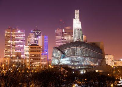 CMHR city background night